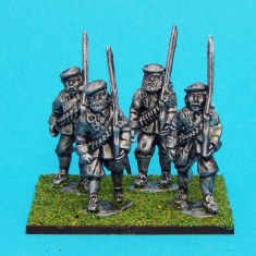 28mm english civil war musketeers marching wearing bonnet.