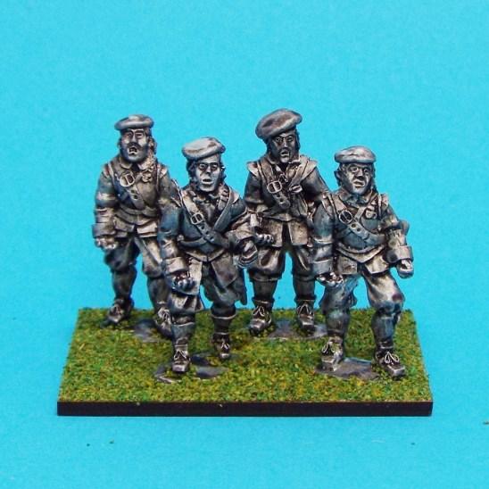 28mm english civil war armoured pikemen wearing bonnet.