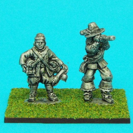 28mm english civil war artillery officer with telescope