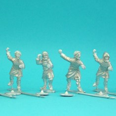 28mm medieval lion rampant bidowers with javelins and buckler.
