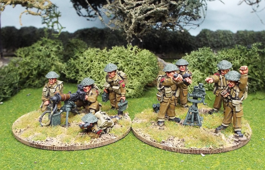 "28mm ww2 British 3"" mortar and Vickers MG"