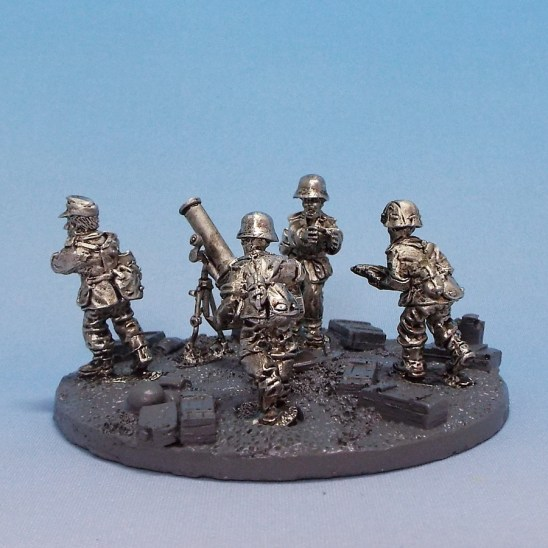 28mm ww2 german 120mm mortar and crew