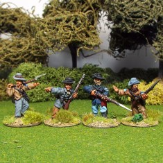 28mm american civil war acw nco's in slouch hat