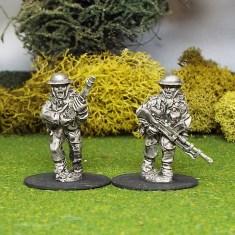 28mm Bren Gun Team A 2 man Bren Gun Team advancing.