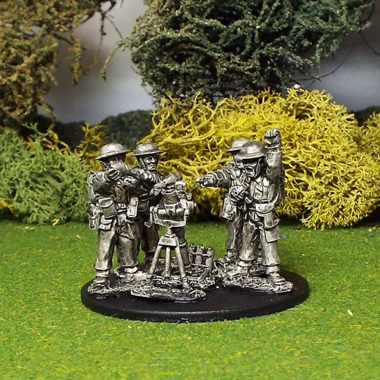 "28mm ww2 british 3"" mortar and crew"