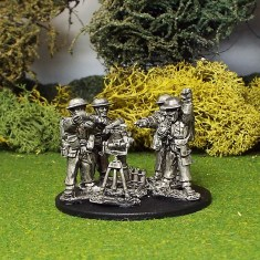 "28mm ww2 british 3"" mortar and crew"