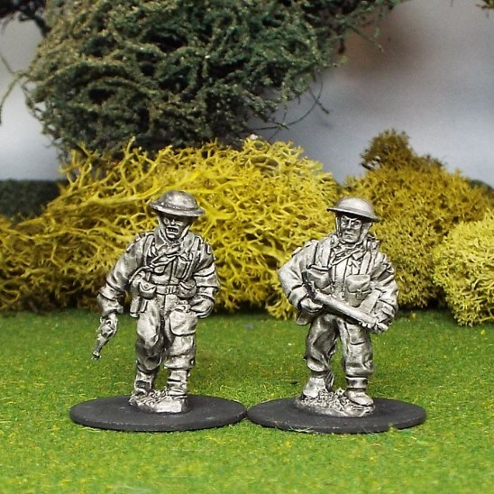 28mm ww2 british infantry officer and radio operator