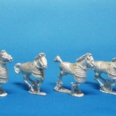 28mm Scythian/Sarmatian Half Barded Cavalry Horses
