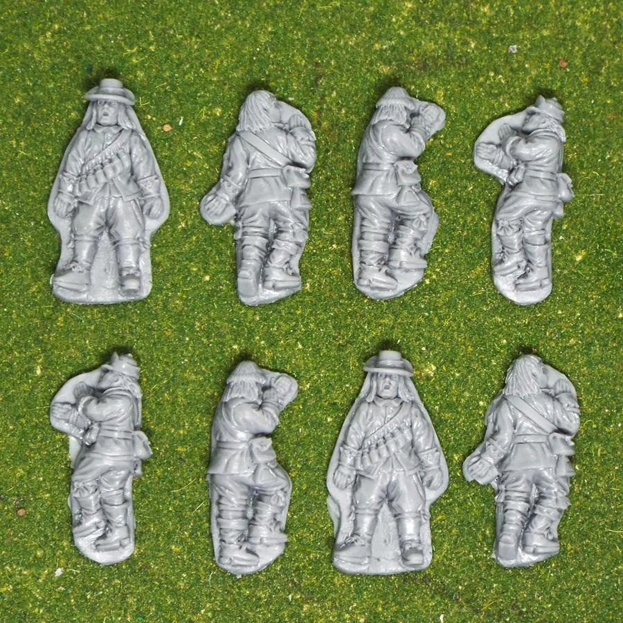 28mm english civil war musketeer casualties.
