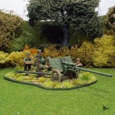 1/48 WW2R18c Zis2 Anti Tank Gun right front 6 crew