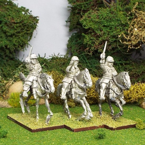 Armoured Troopers, Montero Cap with Sword, Galloping Horses.