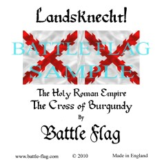 28mm Cross of Burgundy Landsknecht Renaissance Wargame Banners and Flags