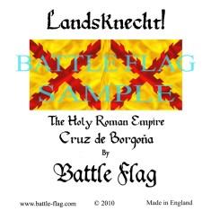 28mm Cruz de Borgoria Landsknecht Renaissance Wargame Banners and Flags