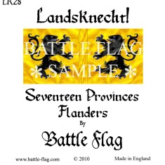 28mm Province of Flanders. Landsknecht Renaissance Wargame Banners and Flags