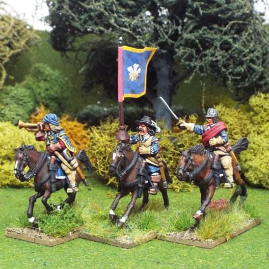 28mm Englisg Civil War cavalry comand