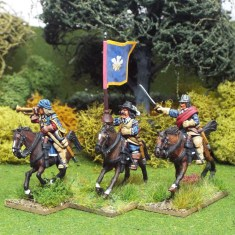 28mm Englisg Civil War cavalry comand