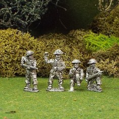 British 17ld Anti Tank Gun Crew 4 Figures
