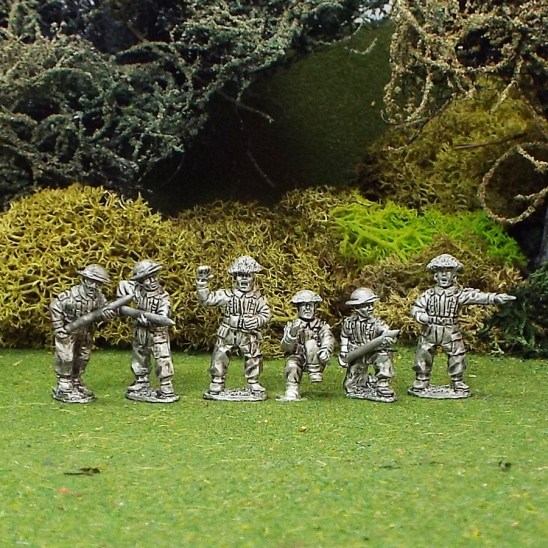 British 17ld Anti Tank Gun Crew 6 Figures