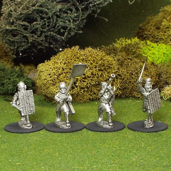 Persian Command with wicker shields