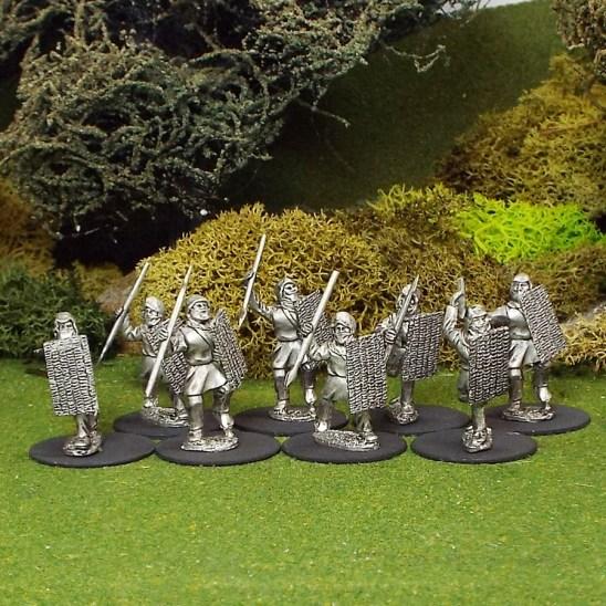 Persian javelin men with wicker shield.