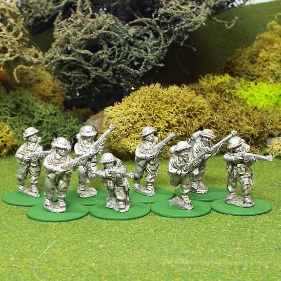 28mm BEF Riflemen with helmet covers.