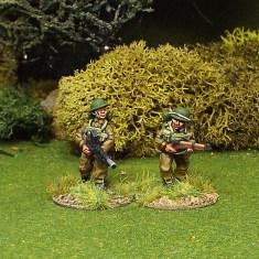 BEF Bren Gun Team Advancing.