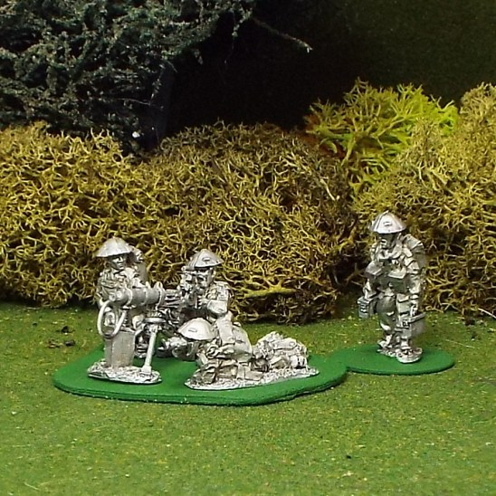 28mm BEF Vickers Machine Gun with 4 crew.