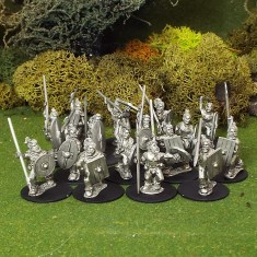 Germanic warriors with spear
