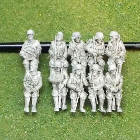 28mm Crew for Krupp Protz Troop Transport KFZ70