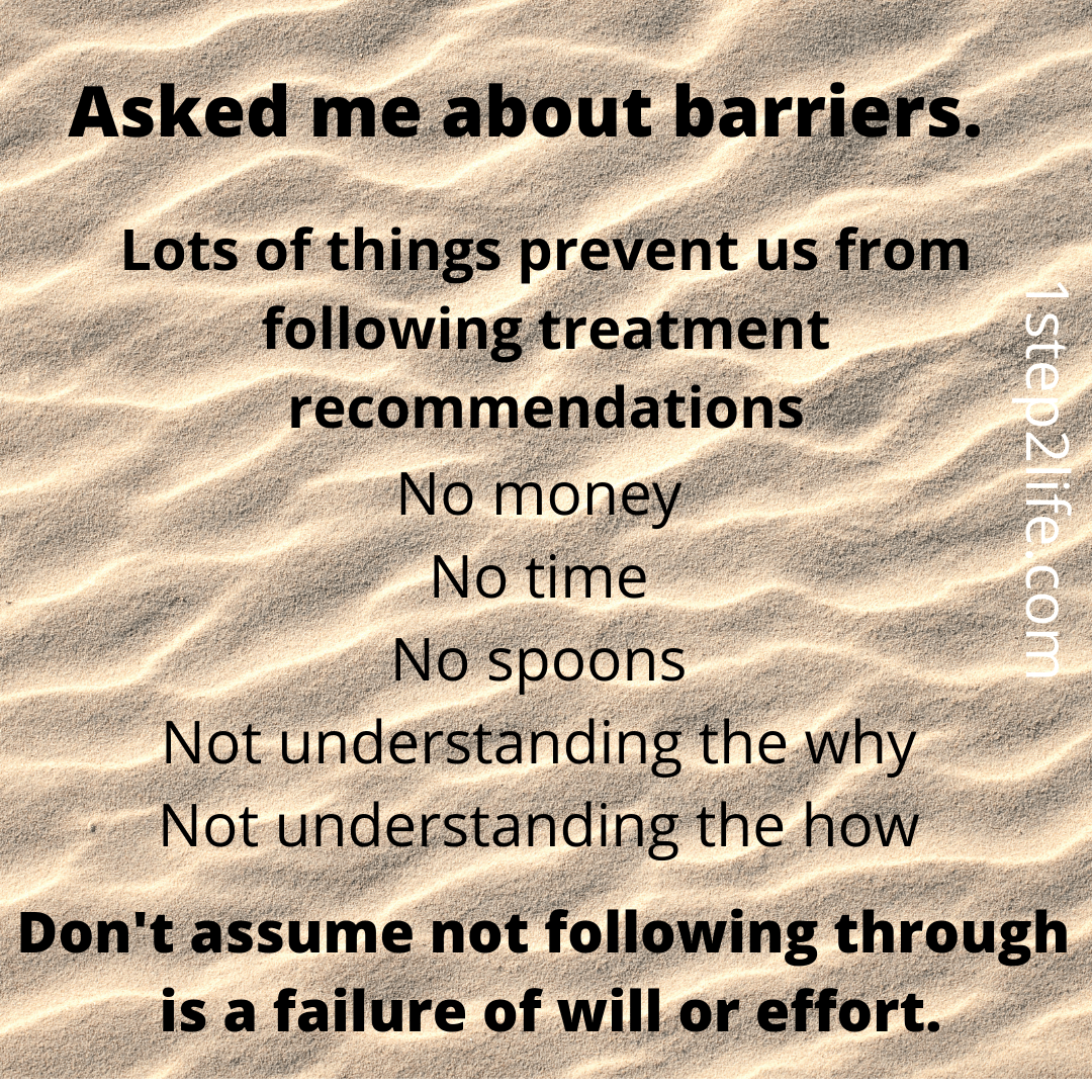 asked about barriers