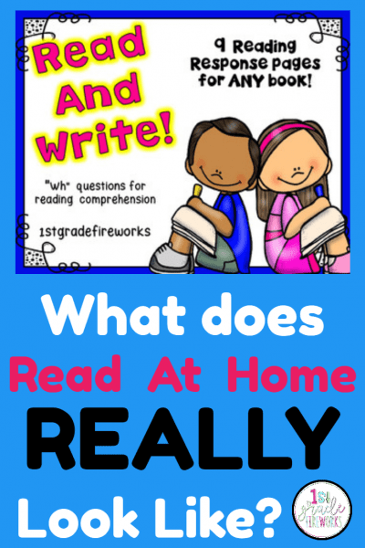 What Does READ AT HOME really Look like? How to support Reading at Home.