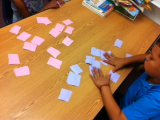 Kids playing Sight Word Matching Game