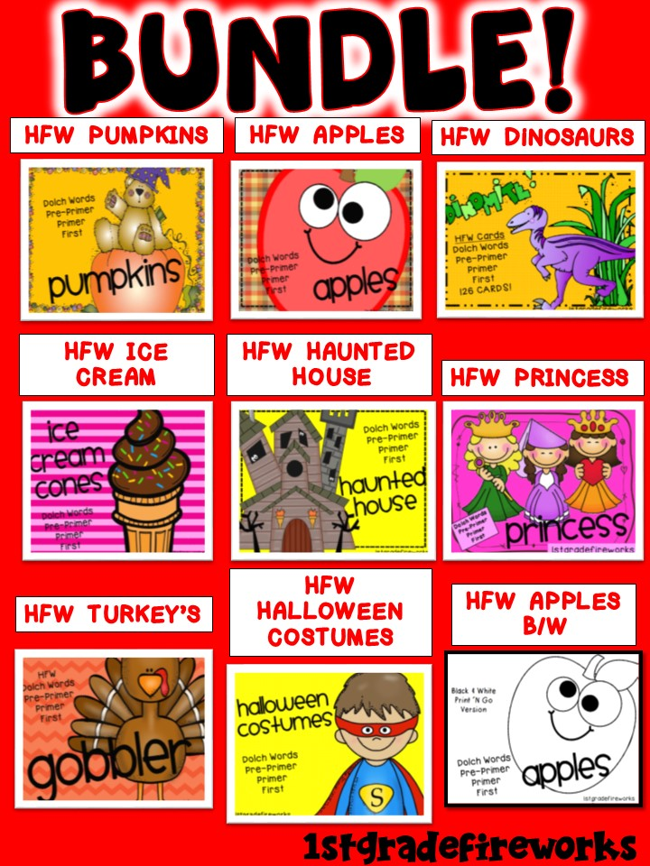 High Frequency Word BUNDLE TPT
