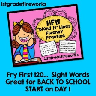 High Frequency Words Tpt 1stgradefireworks