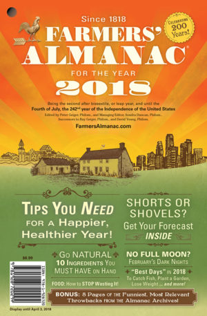 2018 US Farmer's Almanac