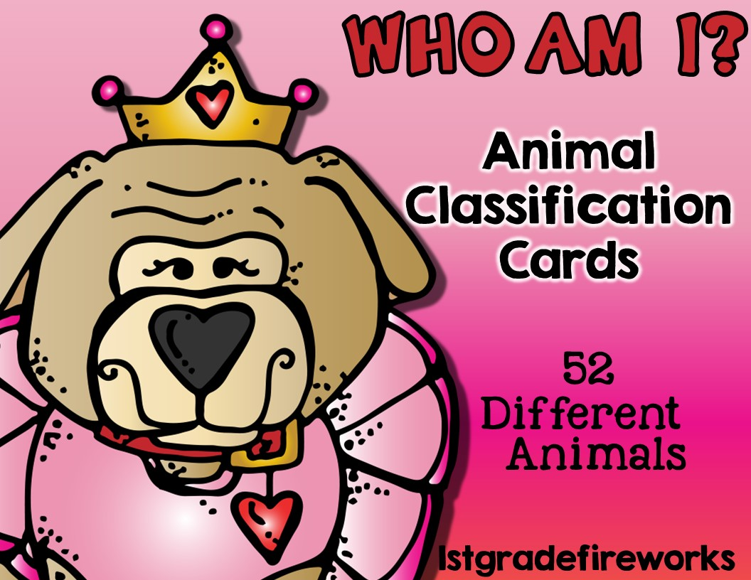 Who Am I Animal Classification Cards