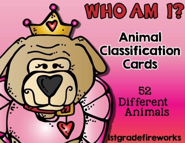 Who Am I Animal Classification Cards to help with transition routines.