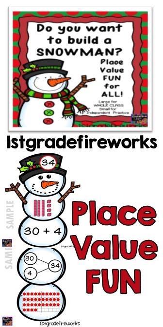WINTER Place Value Snowman