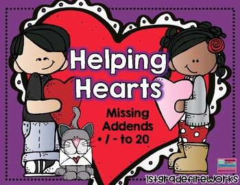 109 pages of Math Task Cards for Valentine's Math Center