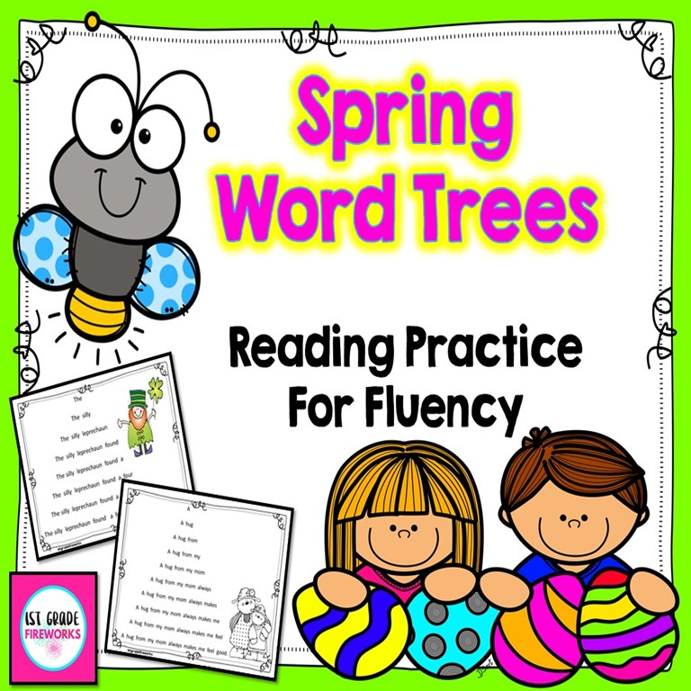 Spring word Trees for Fluency Practice. Now with Extensions
