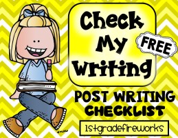Check My Writing. Post Writing Checklist.