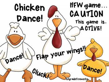 Chicken Dance! FREEBIE! Check it out at 1stgradefireworks!