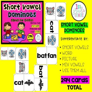 Short vowel dominoes