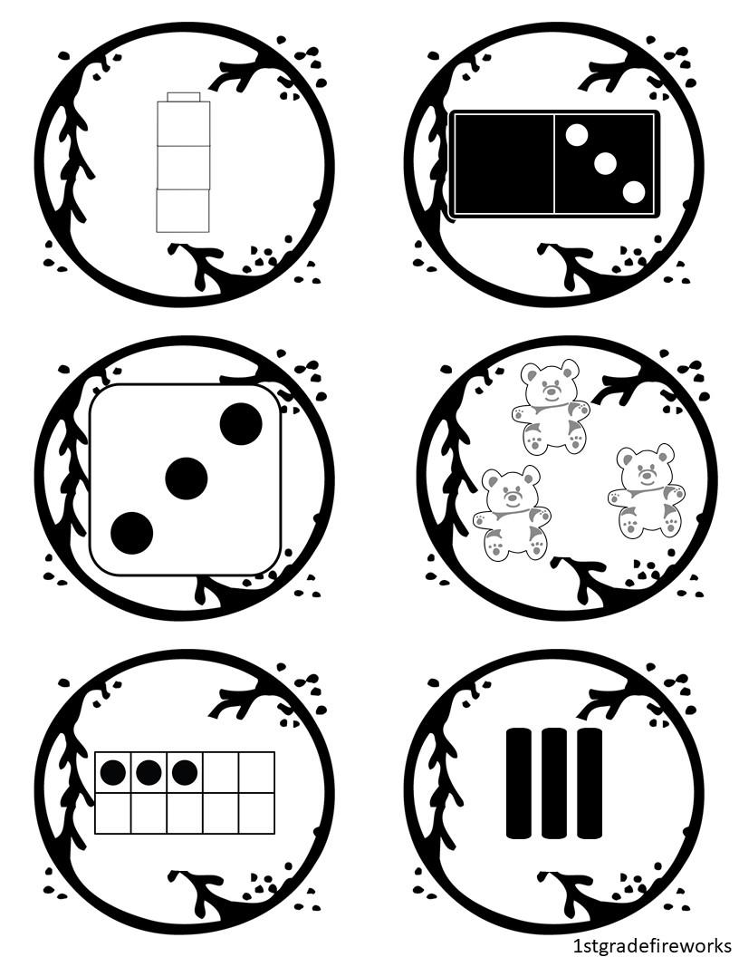 Math Manipulative BASEBALLS for LITTLE ONES!