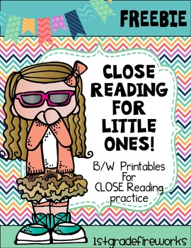 FREEBIE..Close Reading for Little Ones