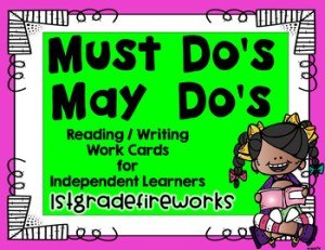 Must do's & May Dos