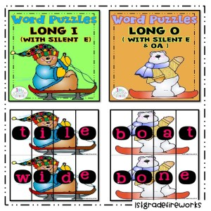 Long Vowel Picture Puzzles long I & o