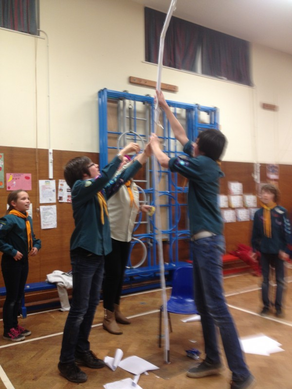 Tallest Paper Tower Challenge January 2014 1st