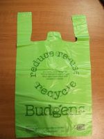 A Budgens carrier bag