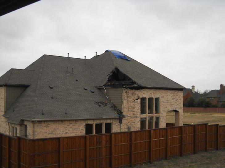 A house fire in Coppell Texas
